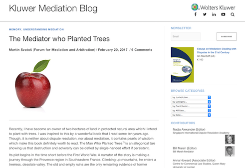 Kluwer Blog Mediation