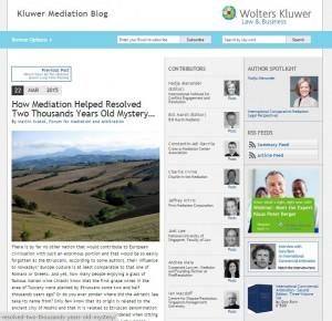 Kluwer Mediaiton Blog